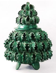 Green Pineapple Tureen from San Jose de Gracia Pineapple Vase, Pineapple Centerpiece, Mexican Ceramics, Rustic Ceramics, Mexico Art, Mexican Folk Art, Mexican Crafts, Native American Pottery, Hacienda Style