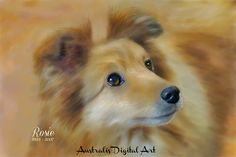 Rosie painted for client via digital painting from photo