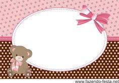 kit festa marrom e rosa convite                                                                                                                                                      Mais