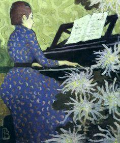 ♪ The Musical Arts ♪ music musician paintings - Pierre Bonnard-Andrée Bonnard au Piano
