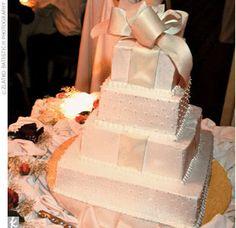 Present wedding cake!