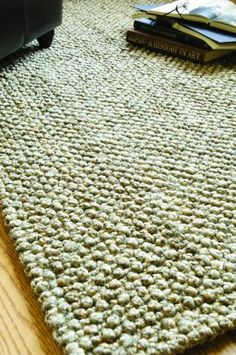 $5 Off when you share! Classic Home Braided Jute Knobby Loop Natural Rug | Casual Rugs #RugsUSA