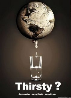 World Water Day poster. I like the strapline on this poster, 'Thirsty? Salve A Terra, Save Water Save Life, Global Warming Poster, Water Poster, Save Our Earth, Water Pollution, Plastic Pollution, World Water Day, Water Conservation