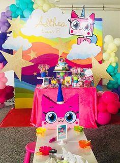 Fiesta temática Unikitty Lego Friends Birthday, Kids Birthday Themes, 9th Birthday Parties, Lego Birthday, Birthday Party Decorations, Girl Birthday, Party Themes, Party Ideas, Girls Lego Party