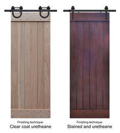 finishing technique for barn doors