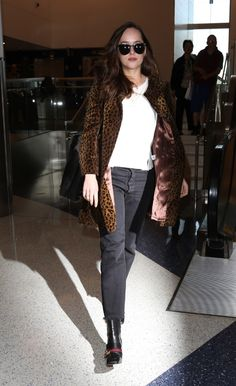 Dakota Johnson / At Lax Airport in Los Angeles - April 27th