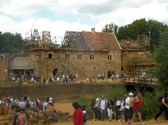 Guedelon Castle - see how medieval castles were made - Treigny, France