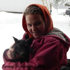 Krystyna & AGS Piglet Via Spring Mountain Living - How to raise American Guinea Hogs