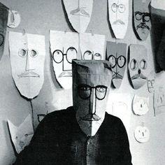 Saul Steinberg - Paper masks http://www.aboltofblue.net/wp-content/uploads/2013/03/ss10-0011.jpg