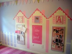 Cute wall mural idea for little girls room :-)