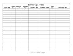 daily pain diary worksheet planners pinterest worksheets