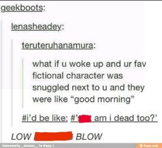 ALL MY FACORITE CHARACTERS ARE DEAD OR PERMANTLY SCREWED UP BECAUSE THE PERSON THEY LOVE IS DEAD!