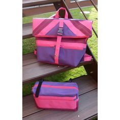 Chantal L. sur Instagram: J'ai le sac à dos assorti à ma sacoche de vélo. Ce sont les modèles Fringante et Troïka de @patrons_sacotin. J'ai utilisé de la toile à sac…