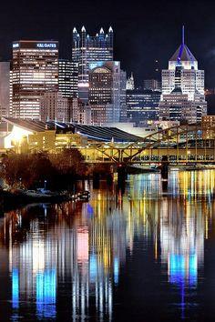 Pittsburgh at night.