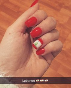 #lebanon #nails #red #love
