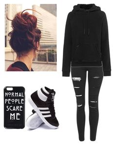 """I can't seem to remember your face. How much I try, I just can't remember it."" by got7trash ❤ liked on Polyvore featuring adidas, Topshop, adidas Originals, women's clothing, women, female, woman, misses and juniors"