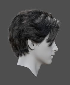 Fantasting Drawing Hairstyles For Characters Ideas. Amazing Drawing Hairstyles For Characters Ideas. Haircuts For Long Hair, Haircuts For Men, Hair And Beard Styles, Long Hair Styles, Wavy Hair Men, Hair Reference, How To Draw Hair, Face And Body, Human Body