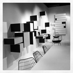 Picture taken at the Pastoe boot at 'Interieur 2010', Kortrijk Belgium. I love how the cupboards slide open. Your wall never looks the same. You can hang and arrange them in a very creative way.