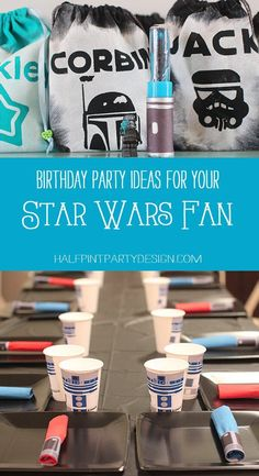 We've got the cutest Star Wars Birthday Party featured today! Come snag some great ideas and even better templates and free printables. Star Wars Birthday, Star Wars Party, Football Birthday, Tema Star Wars, Creative Party Ideas, Ideas Party, Anniversaire Star Wars, Astronaut Party, Star Wars Crafts