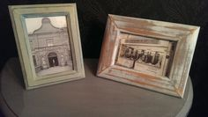 Two shabby chic frames off to be in a charity auction