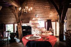 Bruidstaart op etagere