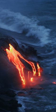 To see Kilauea erupting in 1972. The taxi driver who was afraid of Pele, couldn't drive away fast enough.