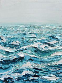 Ocean / painting texture / painting / oil paint / painting detail / blue / ocean Oil Painting how to paint over oil based paint Arte Peculiar, Texture Painting, Paint Texture, Texture Art, Texture Drawing, Fine Art, Art Design, Blue Design, Design Ideas