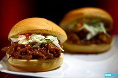 """Pulled Pork""--Turkey, BBQ Sauce, Thyme, Cilantro via Chef Roble & Co"