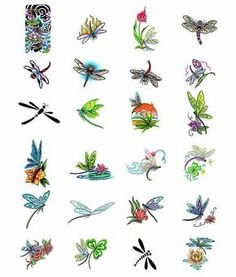 Small dragonfly tattoos @ mom traci Broadaway                                                                                                                                                      More