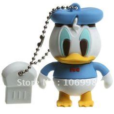 Donald Duck 8GB USB 2.0 Flash Drive Stick Creative U disk Guaranteed full 8G Cartoon memory Pen Drive Card Key New Hot on AliExpress.com.