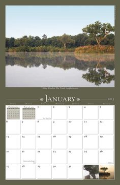 """The Ponds 2013 Calendar features photos showcasing the properties, scenery and activities at The Ponds, a new """"authentic Southern town"""" outside of Charleston, SC. #housing #development #calendar www.yearbox.com"""