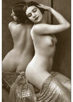 """Vintage Erotic Real Photo Nude c1900's Naked Lady Photograph Erotica 7"""" x 5"""""""