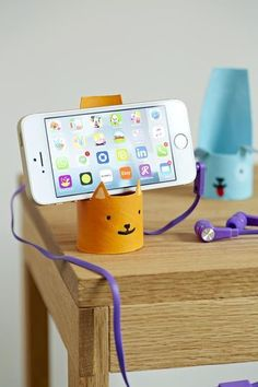 Little friends help you go hands-free as you FaceTime with Grandma!    What You'll Need:     Templates  Toilet-paper tubes  Gesso (optional, for brighter color)  Craft paint    Directions:    1. Cut out the template, wrap it around the tube, and trace. Cut out the shape.     2. If desired, coat with gesso; let dry. Paint a color; let dry. Add the features and let dry.