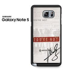 Invisible Hunter Hayes Lyric Quotes With Signature Samsung Galaxy Note 5 Case