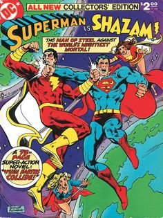 Helping you navigate the very best stories of DC Comics' most beloved characters decade by decade. This week, we look at the best Captain Marvel/Shazam comics. Dc Comic Books, Vintage Comic Books, Comic Book Covers, Vintage Comics, Comic Art, Comic Pics, Captain Marvel Shazam, Marvel Comics, Dc Comics Art