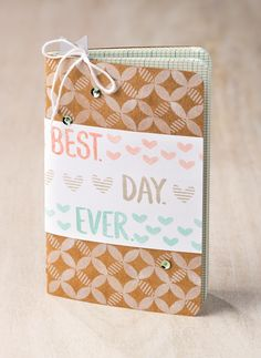 Decorate an adorable mini kraft grid journal with the Best Day Ever stamp set and record your favorite parts of every day! You can earn the stamp set for free during Sale-A-Bration!