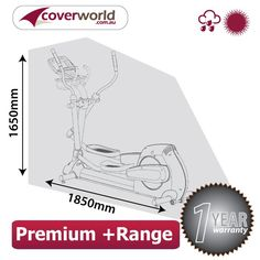 Cross Trainer / Elliptical Trainer Cover - | 1850mm (L) x 1700mm (H) x 650m (D)