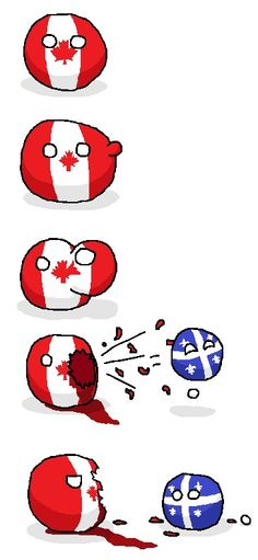 Canada | Quebec - If Quebec separated from Canada: Poland Country, Country Art, Canada Jokes, Canadian Humour, Joke Stories, Seriously Funny, History Memes, Good Jokes, Fun Comics