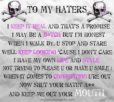 To My Haters Quote