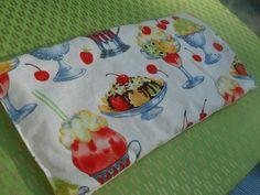 Lavender Sachet Pillow Ice Cream Sundae Fabric by kookyhandbags Lavender Pillow, Lavender Buds, French Lavender, Lavender Sachets, Pot Holders, Bed Pillows, Ice Cream, Fabric, Pillows