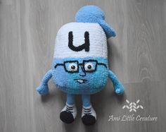 Ami Little Creature: Alphablock U - FREE PATTERN Half Double Crochet, Single Crochet, Last Stitch, Slip Stitch, Crochet Hooks, Me Too Shoes, Free Pattern, Join, Presents
