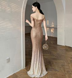 MERMAID SEQUINS LONG PROM DRESS EVENING DRESS   VestidosProm