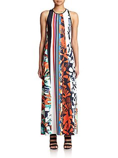 Clover Canyon Ink Strokes Printed Maxi Dress