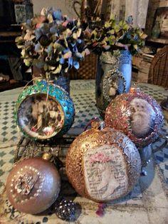 Świątecznie :) ozdoby vintage