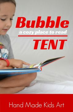 A cool summer place to read: Bubble Tent. My kids love this alternative to a regular fort! --> SO FUN.