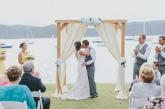 Gabrielle + Glen - Real wedding at The Boathouse Palm Beach. Photography by Leah Kua