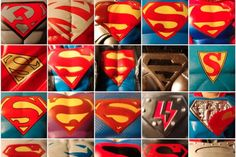 The many ages of Superman the Logo.