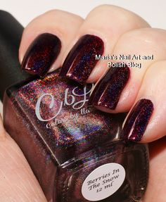 Marias Nail Art and Polish Blog: Colors by Llarowe Berries In The Snow swatches