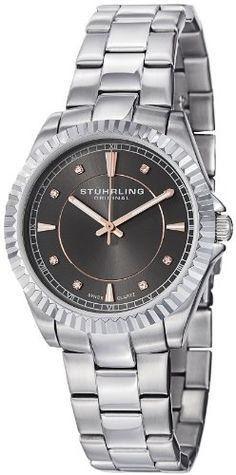 Stuhrling Original Women's 408L.121154 Aquadiver Regatta Lady Marine Swiss Quartz Grey Dial Stainless Steel Bracelet Watch Stuhrling Original http://www.amazon.ca/dp/B007OTMOY0/ref=cm_sw_r_pi_dp_fa8mvb0FSXXM5