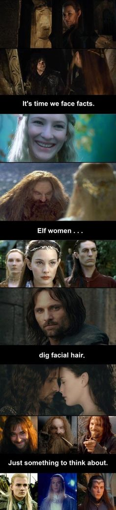 Sorry beardless elf maiden suitors, it looks pretty official